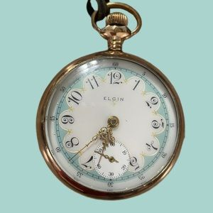 Rare beautiful Antique size 18 Elgin Pocket watch
